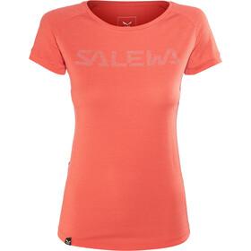 SALEWA Pedroc Delta Dry Camiseta Manga Corta Mujer, delta hot coral